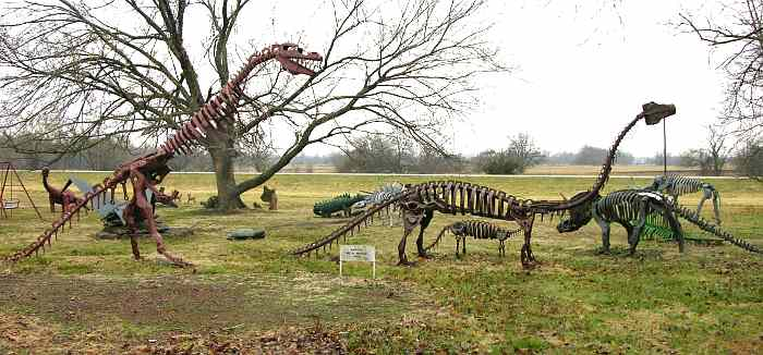 Dinodaur sculptures