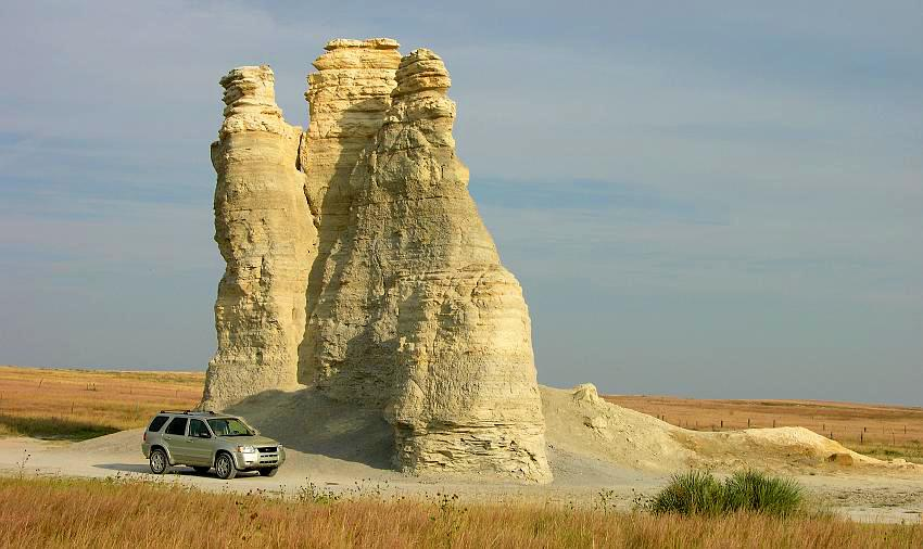 Castle Rock Badlands In Western Kansas