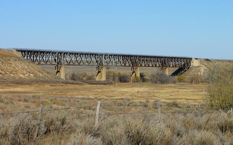 Cinarron River Railroad Bridge