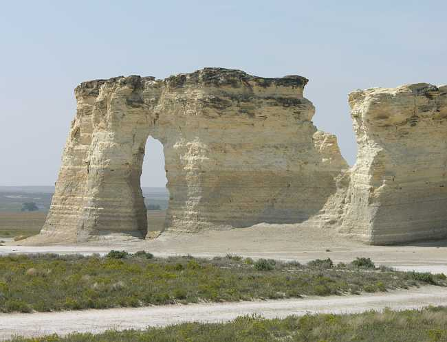 Monument Rocks are also known as Chalk Pyramids