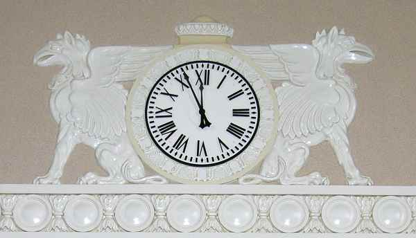 Clock in the Great Overland Station