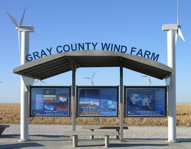 Gray County Wind Farm visitors kiosk
