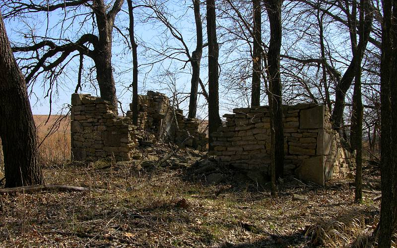 Remains of 1862 indian home in Allegawaho Heritage Memorial Park
