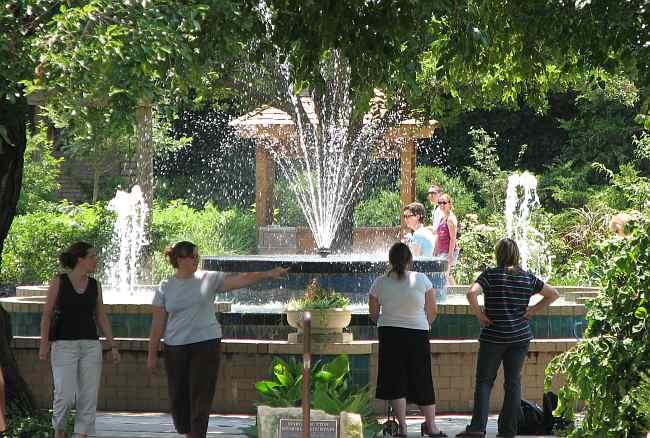 Margie Button Fountain In Botanica In Wichita, Kansas