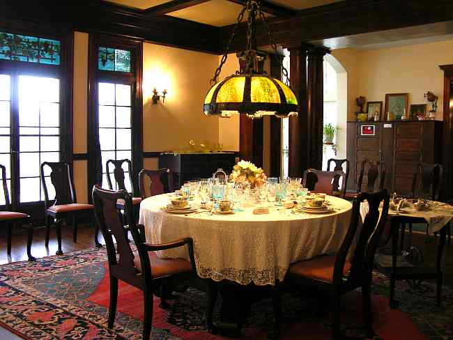 Dining Room in Brown Mansion