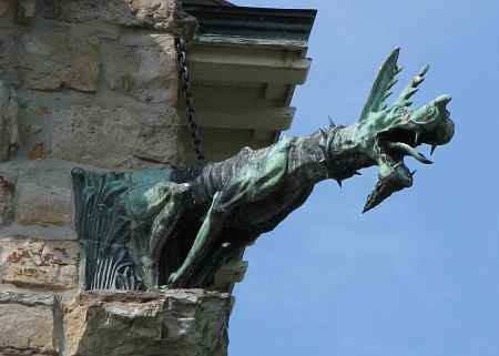 Gargoyle on Leavenworth's Chapel of the Veterans