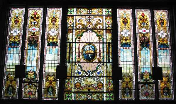 Catholic chapel stained glass windows