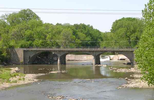 Cottonwood Falls Bridge and Dam