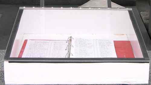 Davis Memorial guest register