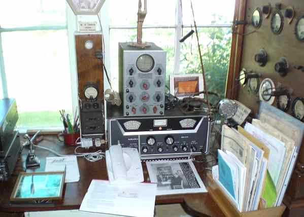 Amateur radio station W9BSP at Ensor Museum