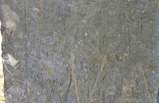 18th Century graffiti at Fort Hays