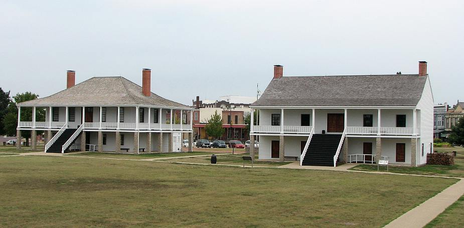 Fort Scott hospital and infantry barracks at Fort Scott National Historic Site