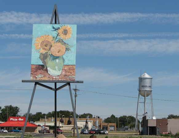 Giant van Gogh Painting - Goodland, Kansas
