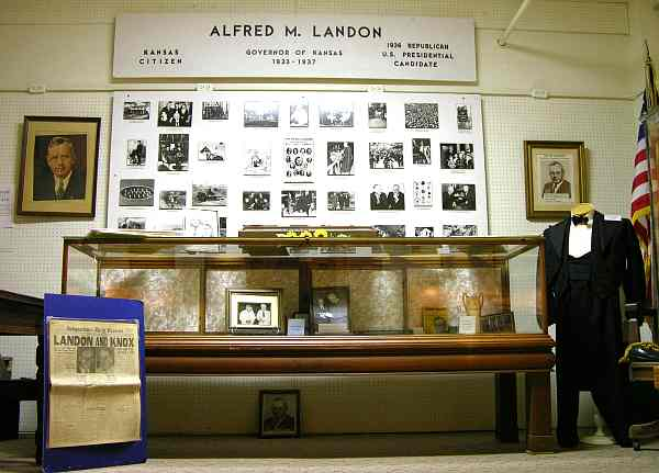 Alf Landon exhibit in the Independence Historical Museum