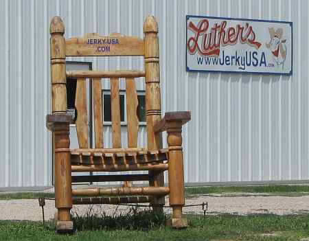 Luther's Jerky giant rocking chair