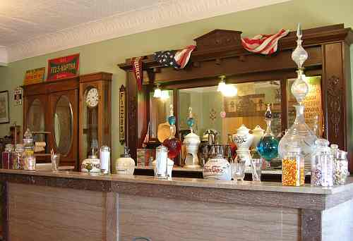 Soda fountain in the Wichita-Sedgwick County Historical Museum