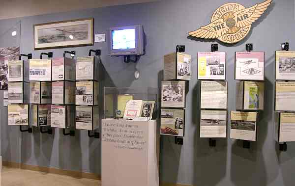 Wichita Air Capital exhibit at Wichita-Sedgwick County Historical Museum