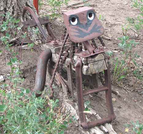 Old Harvester parts become art