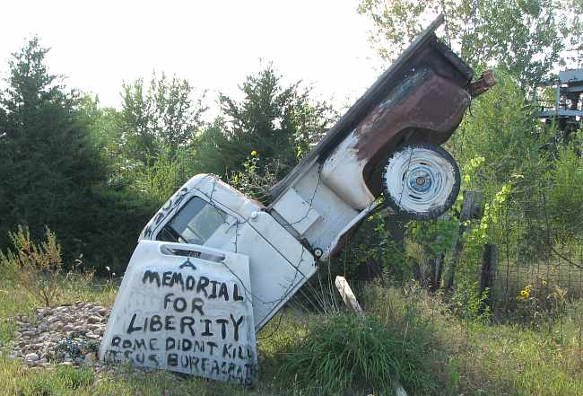 Memorial for Liberty at Truckhenge