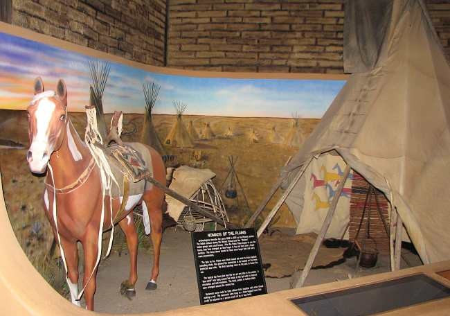 Nomads of the Plains exhibit at the Grant County Adobe Museum