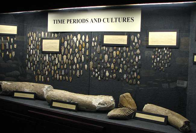 Fossils and artifacts at Grant County Adobe Museum