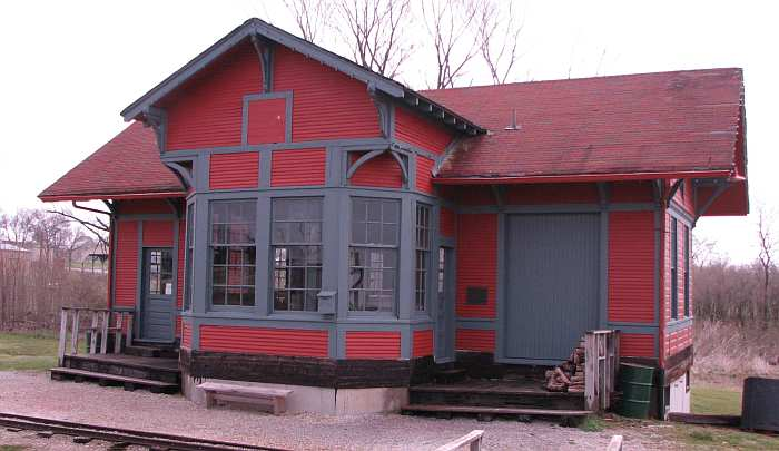 1887 railroad depot at National Agricultural Center and Hall of Fame