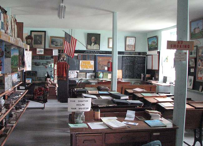 One room schoolhouse at the Albany Historical Museum