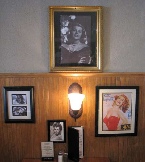 Rita Hayworth booth at Bichelmeyer's Steakhouse
