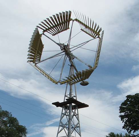 Windmill at Brown County Agriculture Museum in Hiawatha, Kansas.