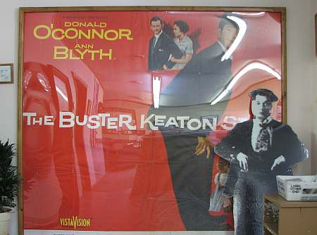 The Buster Keaton Story poster at the Buster Keaton Museum