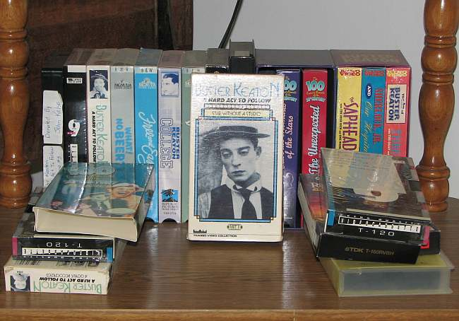 Buster Keaton videotapes