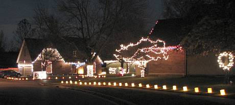 Christmas Card Lane - Olathe, Kansas