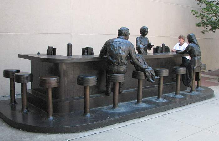 Georgia Gerber bronze Woolworth lunch counter