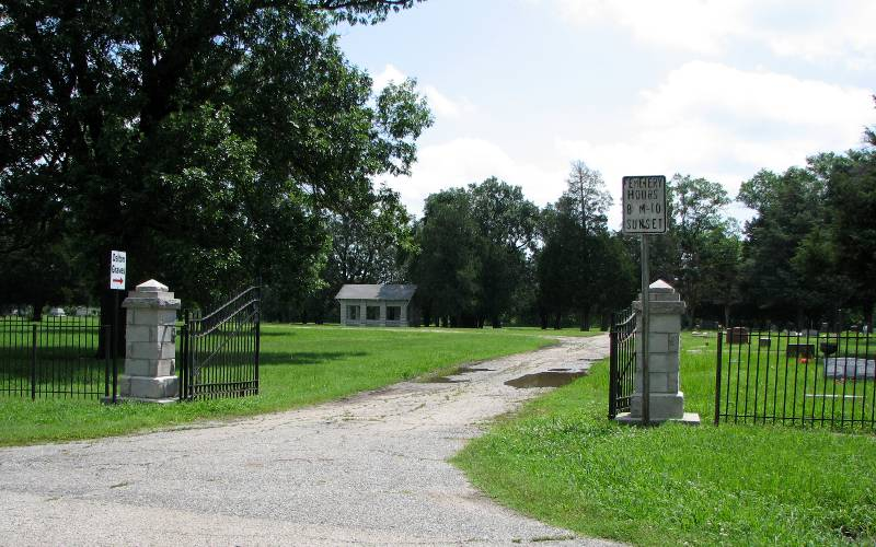 Entrence to Coffeyville's Elmwood Cemetery