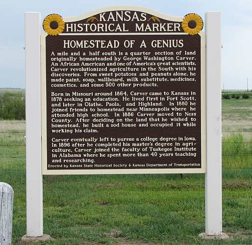 George Washington Carver - Kansas Historical Marker