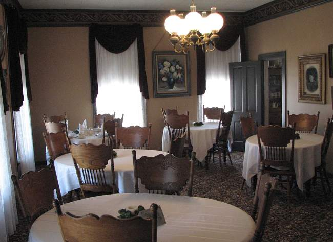 Harvey House dining room