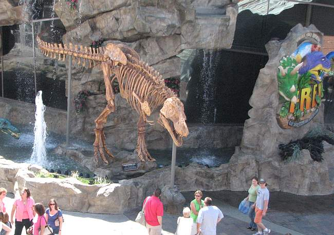 T-Rex Cafe at Kansas City Legends shopping center.
