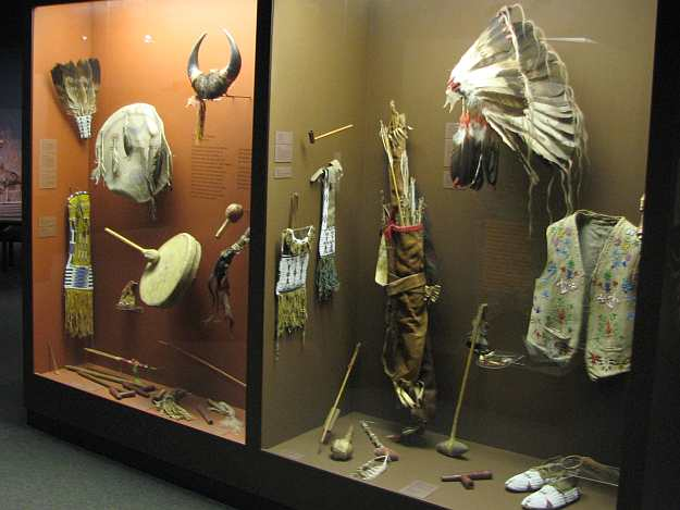 Native American exhibits at the Kauffman Museum