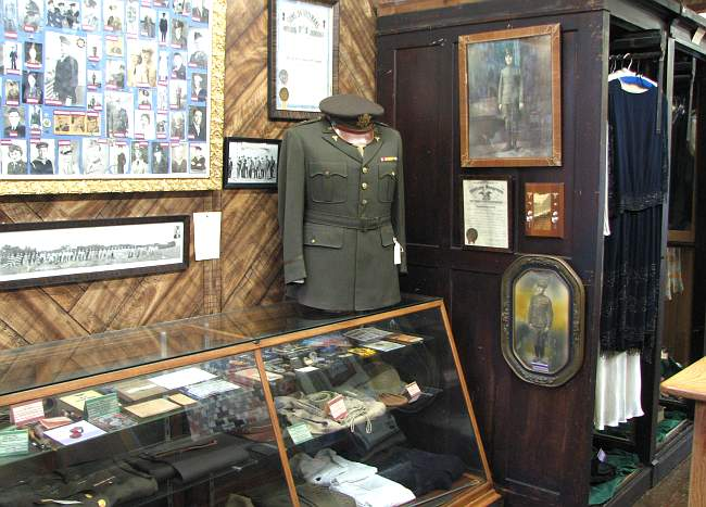 Rush County Historical Museum displays