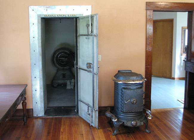 Nekoma Bank vault - Rush County Museum, Kansas