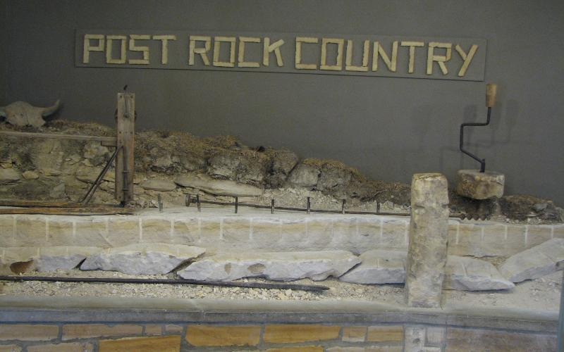 Reproduction of a post rock quarry - Post Rock Museum