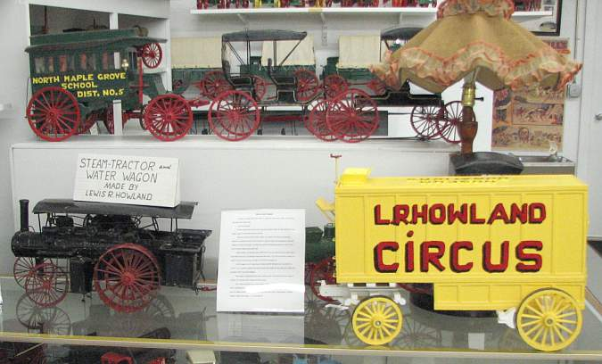 scale model steam tractor and water wagon