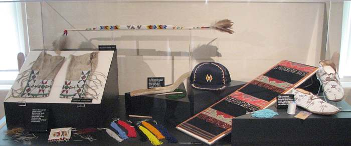 Indian quill and beadwork at Native American Heritage Museum