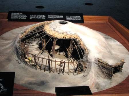 Model of a Pawnee earth lodge