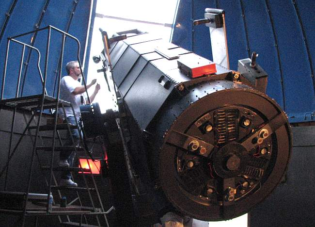 30 inch reflecting telescope at Powell Observatory