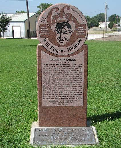 US 66 - Will Rogers Highway monument