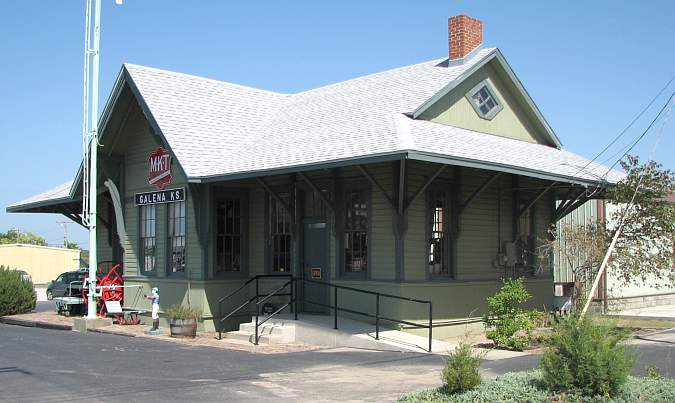 MTK railroad depot houses the Galena Mining and Historical Museum