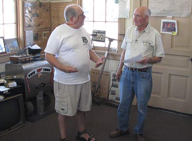 jan howard finder and Bill Toney at Galena Mining and Historical Museum