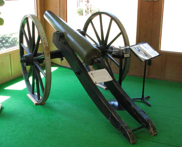Civil War era cannon at Baxter Springs Heritage Center and Museum