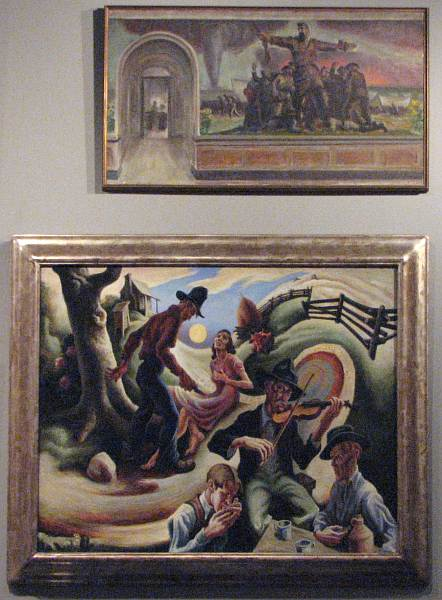 Art by John Steuart Curry and Thomas Hart Benton